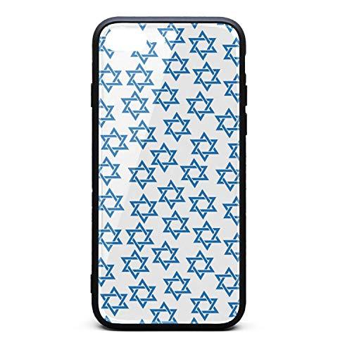 Tisha B'Av Kosher White Mosaic Star David White Background Phone Case iPhone 7 Plus, iPhone 8 Plus, Slim Protection Art Line Design Cell Phone Protective Case