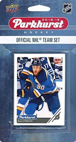 St. Louis Blues 2018/19 Upper Deck Parkhurst NHL Hockey EXCLUSIVE Limited Edition Factory Sealed 10 Card Team Set including Jake Allen, Alexander Steen & all the Top Stars & RC's! WOWZZER!