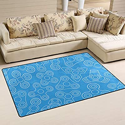 Stress In Rug.Minalo Modern Area Rugs Fidget Spinner Stress Relief Toy 2