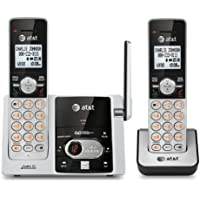 AT&T CL82203 DECT 6.0 Expandable Cordless Phone with Caller ID/Call Waiting and Digital Ansewering , 2 Handsets, Silver/Black