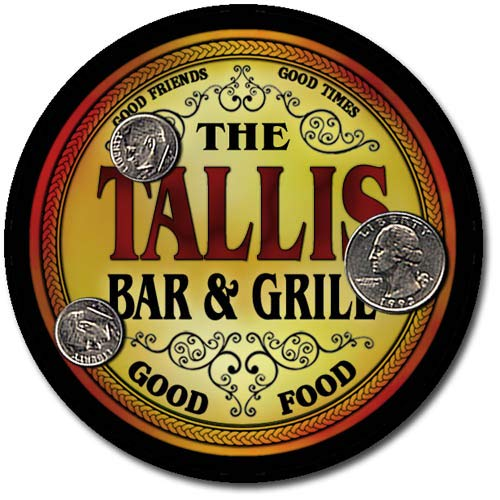 (Tallis Family Bar and Grill Patriotic Rubber Drink Coaster Set)