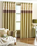 Clermont Ring Top Green Curtains 168 x 229