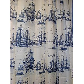 Amazon.com: Ikea Aggersund 302.648.67 Shower Curtain, Blue Ships ...
