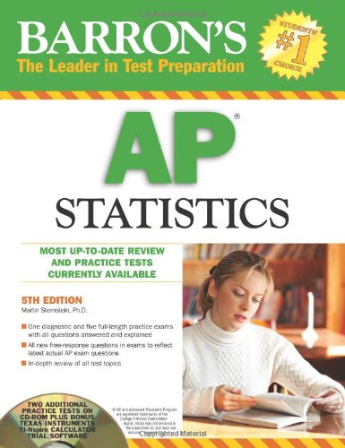 Barron's AP Statistics with CD-ROM (Barron's: The Leader in Test Preparation)