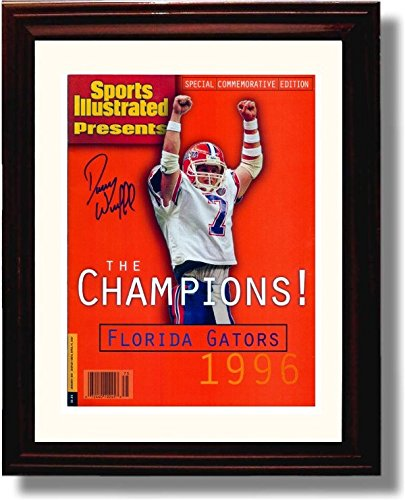 1996 Best Autographs - Framed 1996 Danny Wuerffel Florida Gators Commemorative Sports Illustrated Autograph Replica Print