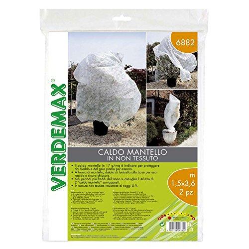 Verdemax 688217g/mq 1,5x 3,6m tessuto non tessuto caldo mantello (2pezzi)