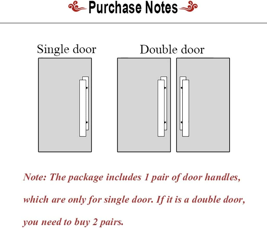 Color : Wood, Size : 800/×500mm 5 Lengths Wooden Door Handle Home Sliding Barn Door Handle//Commercial Glass Door Push-Pull Handle Black//Wood Color