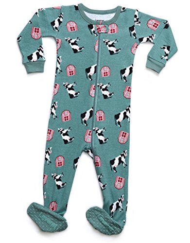 Cow Sleeper - Leveret Organic Cotton Cow Footed Pajama Sleeper 6-12 Months