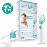 Best Baby Electric Nasal Aspirator with Power Suction Tip Batteries and Bonus Snot Sucker for Infants & Toddlers - Waterproof & Safe Nose Cleaner Mucus Extractor - 100% Clean Nose Guarantee