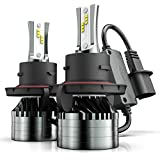 9008/H13 LED Headlight Bulbs, Marsauto 12000LM M2 Series Led Hi/Lo Beam Headlamp Conversion Kit with Fan, CSP Chip CANbus-Ready IP67 6000K Xenon White 2-Pack