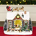 Best Choice Products Pre-Lit Musical Tabletop Christmas Village Decoration for Fireplace Mantle, Centerpiece w/ 9 Songs by Best Choice Products