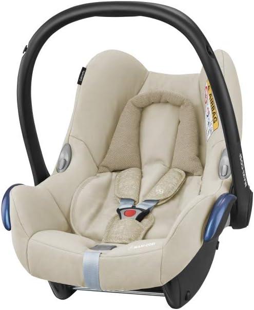 Maxi-Cosi CabrioFix, Silla de auto, reclinable y seguro para bebé, 0-12 meses, 0-13 kg, Nomad Sand (beige)