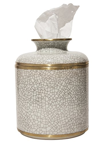 MANDARIN ORIENTAL PORCELAIN TISSUE DISPENSER - TISSUE HOLDER - TISSUE COVER by KensingtonRow Home Collection