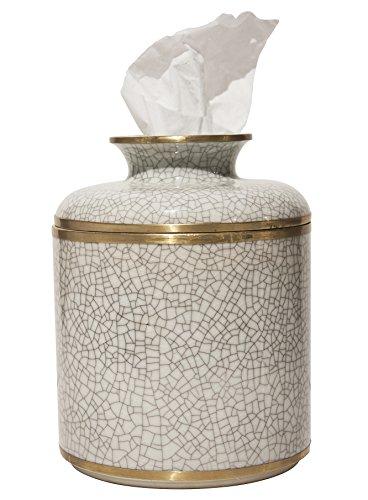 MANDARIN ORIENTAL PORCELAIN TISSUE DISPENSER - TISSUE HOLDER - TISSUE COVER by KensingtonRow Home Collection
