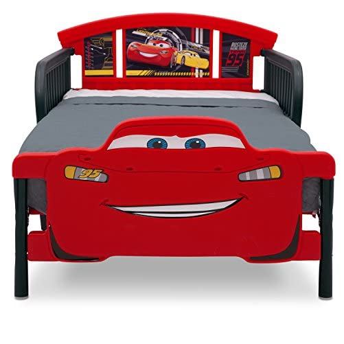 Delta Children 3D-Footboard Toddler Bed, Disney/Pixar Cars 3 4