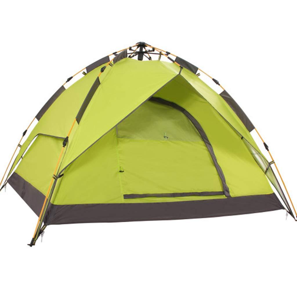 YaNanHome Zelt des Zeltes im Freien automatisches hydraulisches Zelt 2-3 Leutefreizeitzelt-kampierendes Zeltmehrfarben wahlweise freigestellt (Farbe : Gelb, Größe : 210  180  130cm)