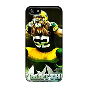 Anti-Scratch Hard Phone Cases For Iphone 5/5s With Allow Personal Design Attractive Green Bay Packers Image AlissaDubois