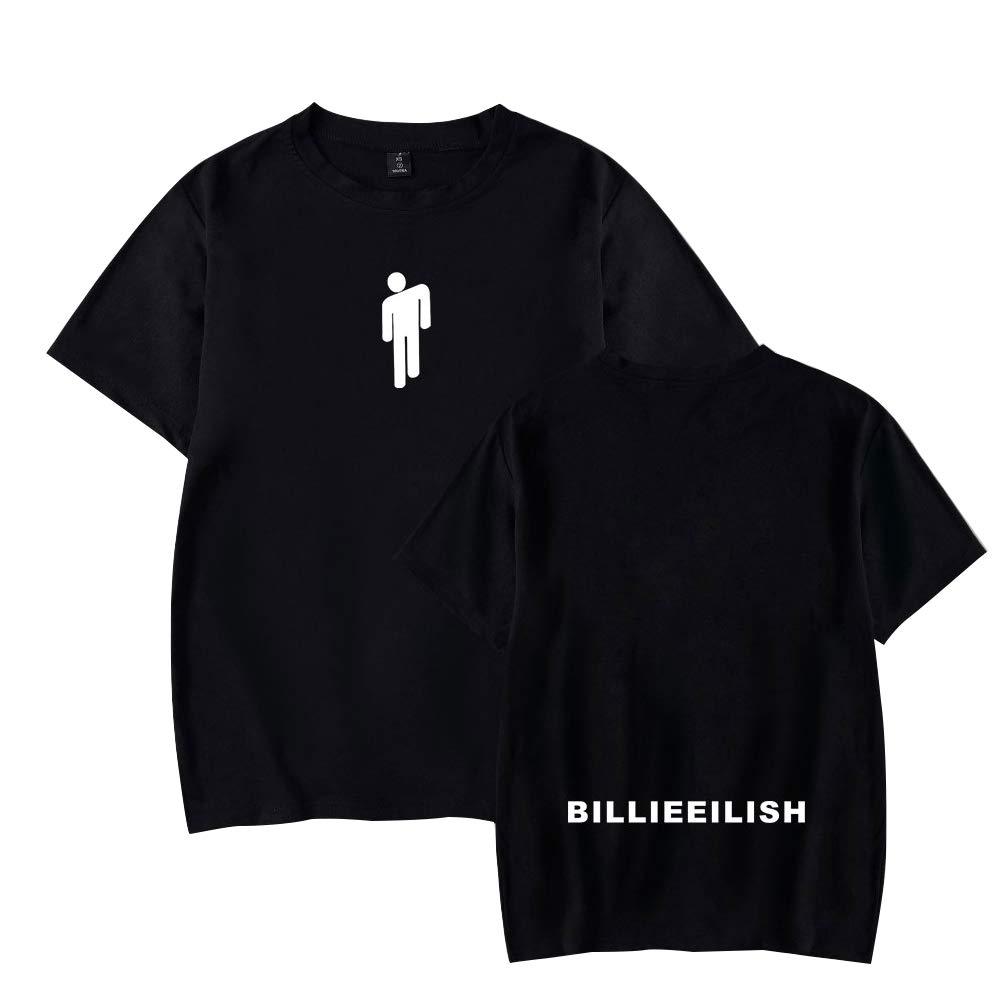 SISAY Billie Eilish T Shirt Basic Unisex Pullover Girocollo Manica Corta A13085TX01