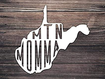 Amazon com: CELYCASY West Virginia Mountain Momma Decal WV Country