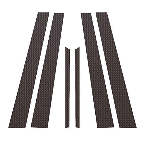 Ferreus Industries Carbon Fiber Pillar Post Trim Cover fits: 1996-2000 Honda Civic 4 Door Sedan PIL-022-CF ()