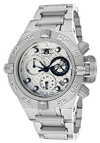 Invicta 11346 Womens Ladies Subaqua Diver Chronograph Staniless Steel Case and Bracelet Silver Tone Dial 500M Watch