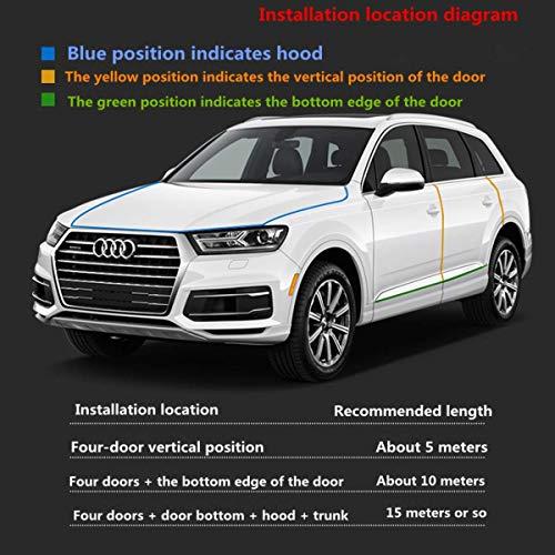 16FT Carbon Fiber Car U Shape Door Edge Guards Clear Trim Molding Seal Protector