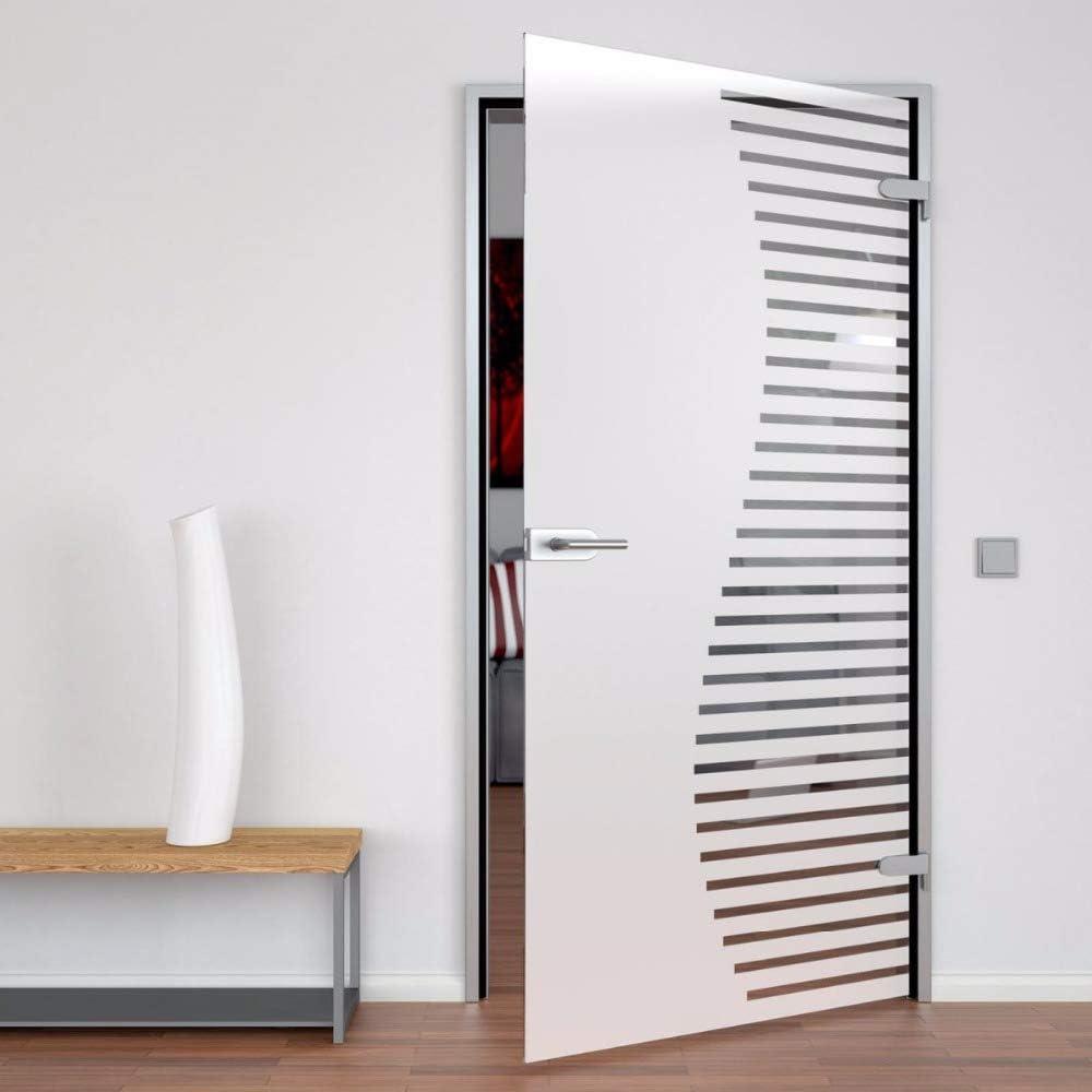 Puertas de cristal sin marco de acero inoxidable con bisagra y cerradura: Amazon.es: Bricolaje y herramientas