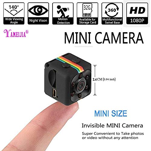 (MENYANG Spy Hidden Wireless Mini Camera 1080P HD Portable MINI Security Camera with Night Vision/Motion Detection,Perfect Indoor Covert Security Camera for Home,Office, Car, Drone Etc.)