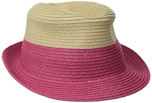 physician-endorsed-womens-jackie-g-small-packable-fedora-hat-natural-pink-one-size