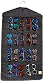 eyeglass wall display - Sunglasses Organizer for Closet Storage, Wall Display by Sunsbuddy 20 Slots Canvas (Black)