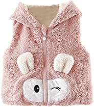 Willsa Baby Girl Clothes, Cartoon Ears Vest Hoodie Winter Warm Clothes Coat
