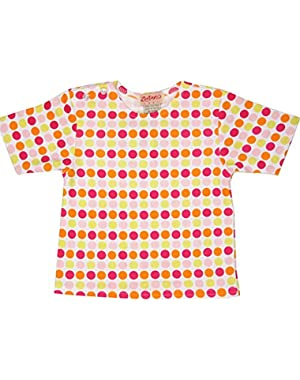 Fuchsia Big Dot Short Sleeve T-shirt