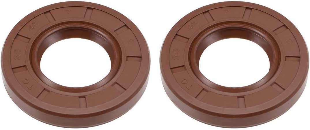 oil seal 25 mm Internal diameter 48 mm OD 7 mm Thick fluorine rubber double lip seals 2 pieces
