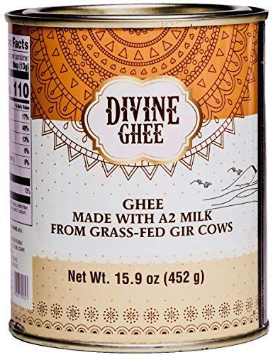Original A2 Gir Cow ghee, Grass-fed 15.9 oz - made from A2 Milk, Lactose & Casein free, Keto Friendly