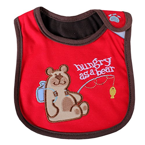 [Bear Newborns Infant 0-3 Years Baby Bibs Infant Saliva Towels Newborn Wear Burp Cloths] (Infant Red Minnie My First Disney Costumes)