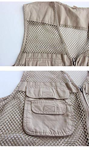 Vest Giovane Zip Beige Tasche Gilet Photography Con Uomo Yasminey Jacket Up Senza Da Maniche Sport Pratiche Outdoor Molte Xpzqwaw