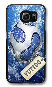 Samsung S6 Case,VUTTOO Stylish Soccer Ball In Blue Water Hard Case For Samsung Galaxy S6 - PC Black