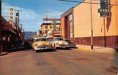 Tillamook Oregon Street Scene Early Autos Vintage Postcard (Early Vintage Scene)