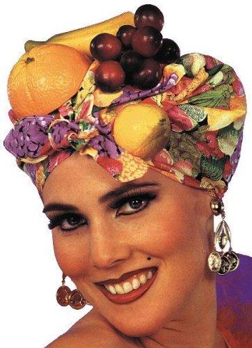 Carmen Miranda Hat Costume (Tropical Carmen Miranda Latin Lady Fruit Headpiece Hat Costume)