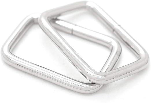 RNG-AA183 1-12 Inch Flat Cast Rectangle Ring 1.5 Inch Rectangular Ring Gold Finish Handbag Purse Bag Making Hardware 6 Pieces