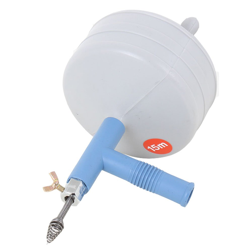 Clogged Drain Spring Cleaner 50ft - EmcoDea drain auger plumbers snake Very easy to use drain snake 50 ft plumbing snake Most of the clogged sewers open