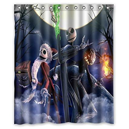 Image Unavailable Not Available For Color LIBIN Scottshop Custom The Nightmare Before Christmas Shower Curtain