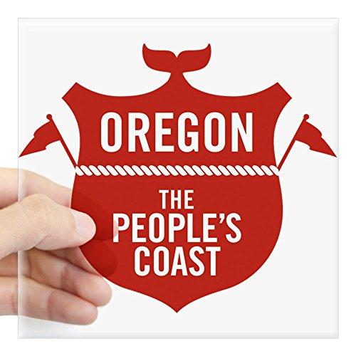 Oregon Logo Square (CafePress - Logo Sticker - Square Bumper Sticker Car Decal, 3