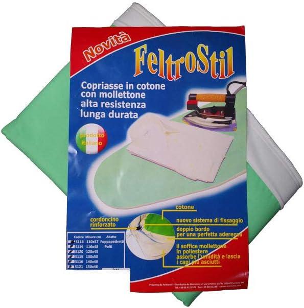 MarelShop/® Telo copriasse in Cotone per Ferro da Stiro Alta qualit/à Made in Italy e Lunga Durata per ASSE da Stiro 110x57 cm