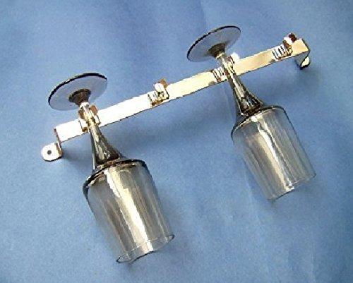 2x Weinglas Halter fü r 4 Glä ser Metall Chrom Beschichtet - Wohnmobil 255mm Lang uk-tradingco.com