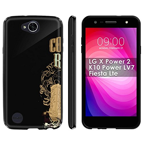 (LG X Power 2/K10 Power LV7/Fiesta Lte Soft Mold [Mobiflare] [Black] Thin Gel Protect Cover - [Cowboy Rodeo] for LG X Power2/K10 Power LV7/Fiesta Lte [5.5