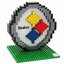 NFL Pittsburgh Steelers Mini BRXLZ Logo Building Blocks, One Size, Black