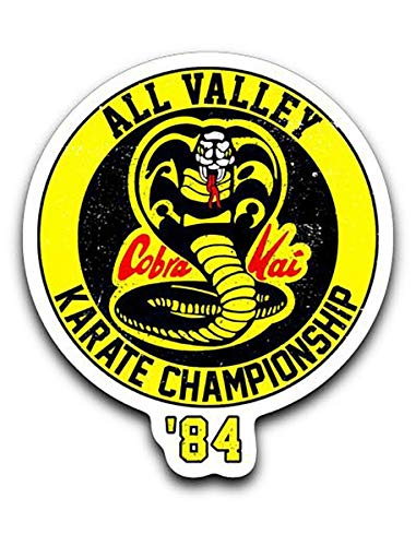 Cobra Kai All Valley Karate Championship 1984 Vinyl Decal Sticker 3''x4''