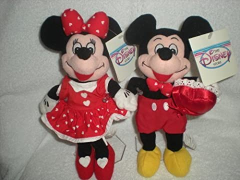 Disney Valentine Mickey and Minnie Bean Bag Plush - Bean Bag Plush Minnie Mouse