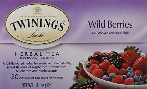 Pantry Herbal Tea (TWININGS Herbal Tea, Wild Berries, 20 Count)
